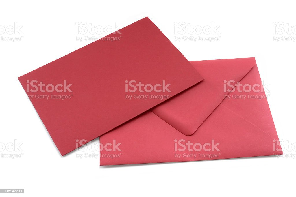 red letter and envelope royalty-free stock photo