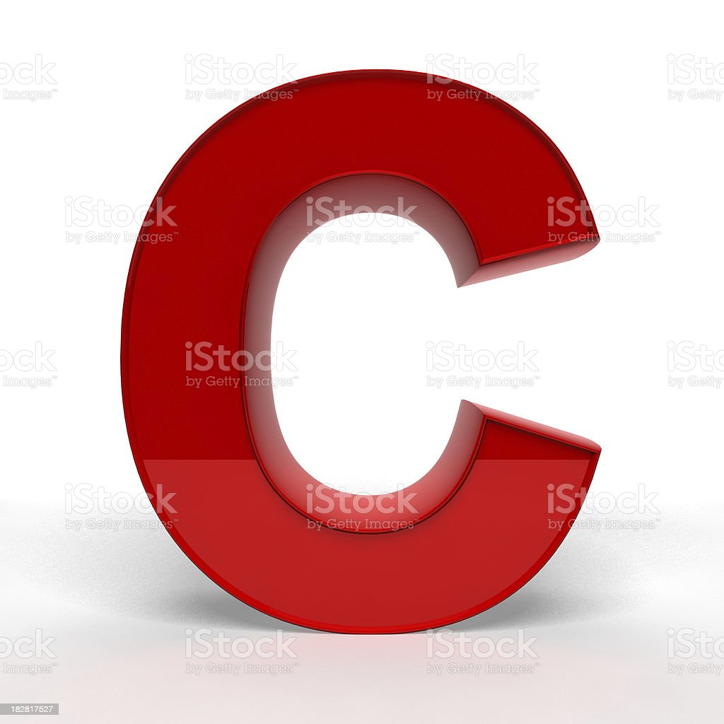 Red letter C stock photo