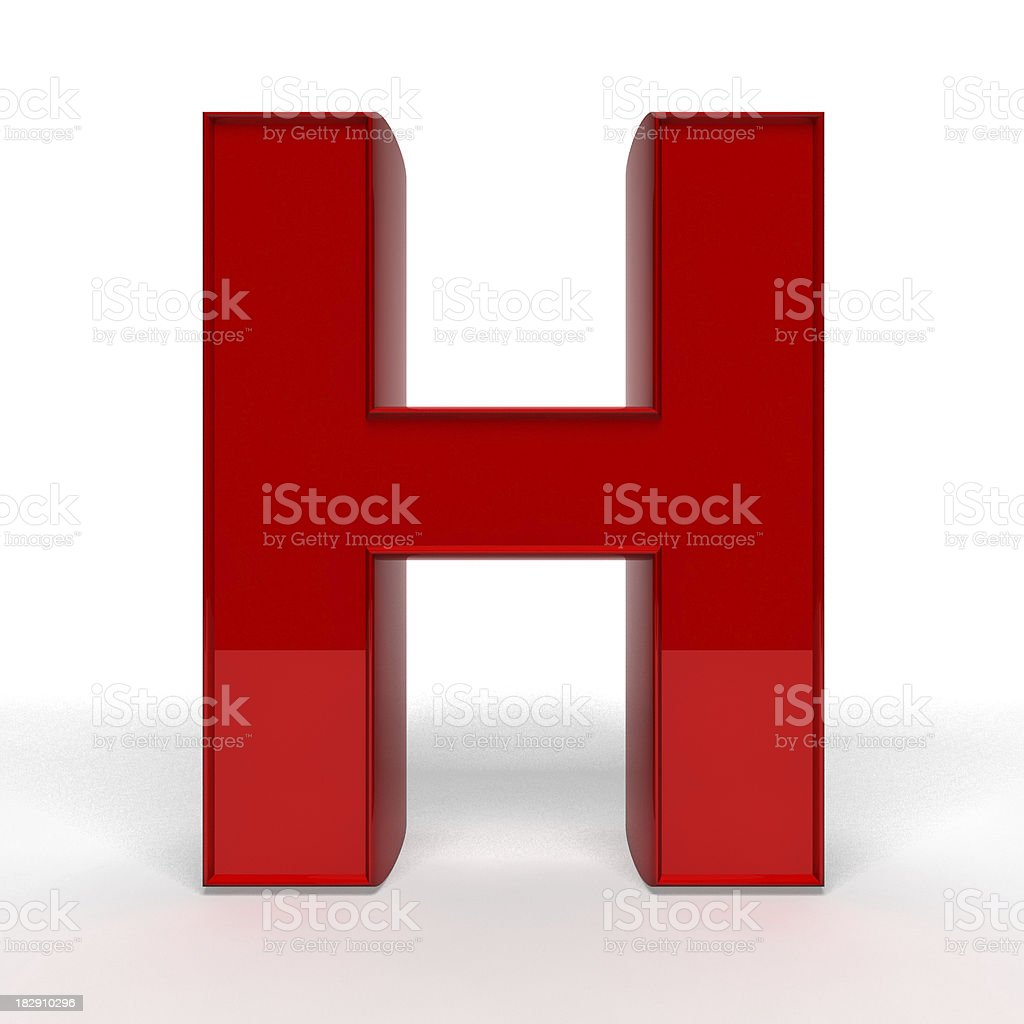 Red letter H royalty-free stock photo