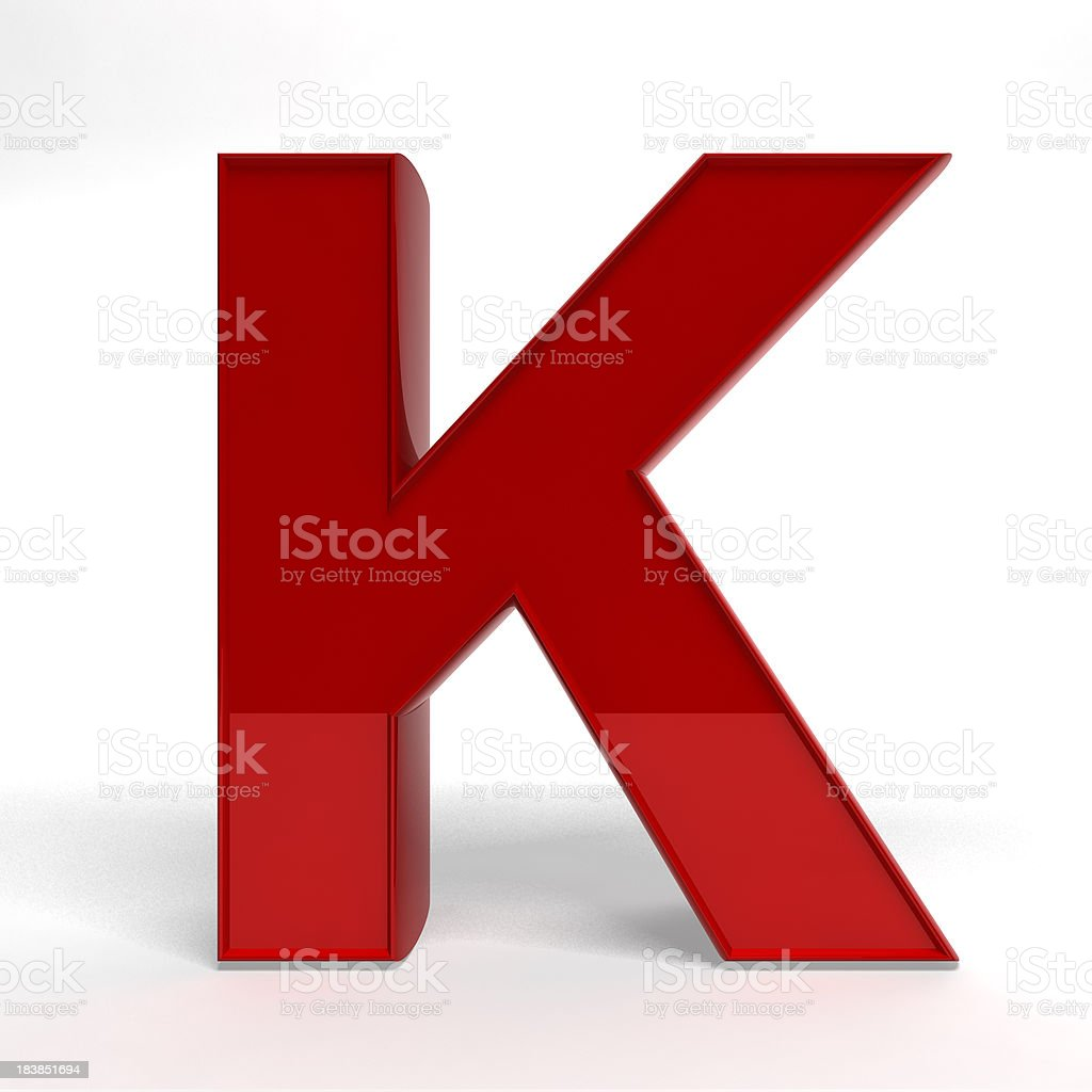 Red letter K royalty-free stock photo