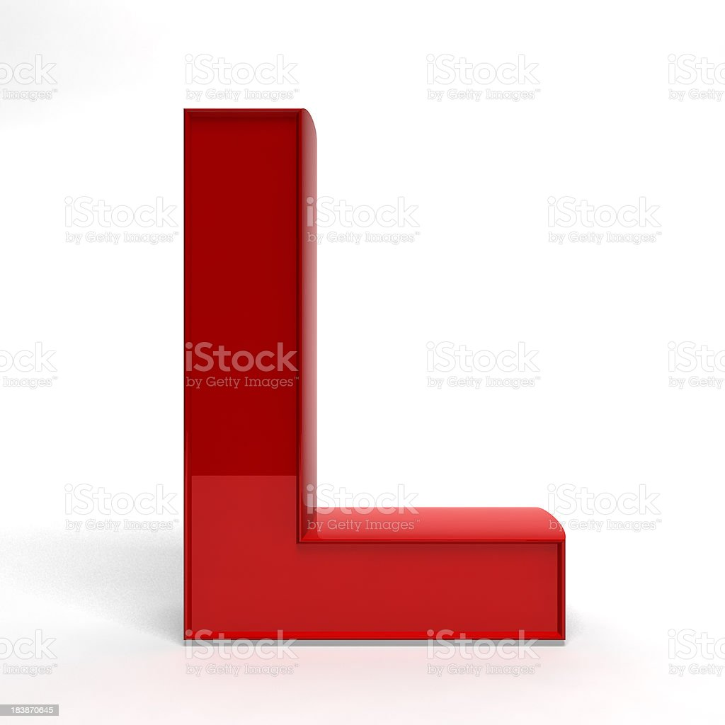 Red letter L royalty-free stock photo