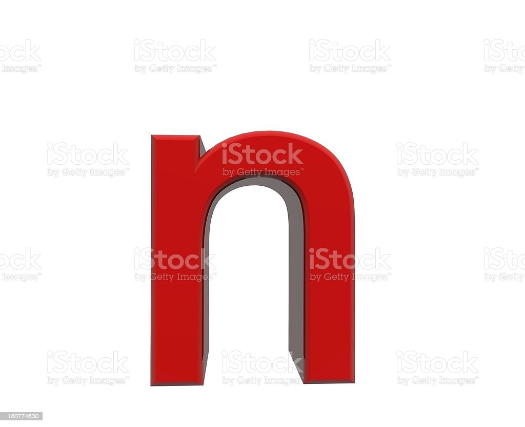 red letter n royalty-free stock photo