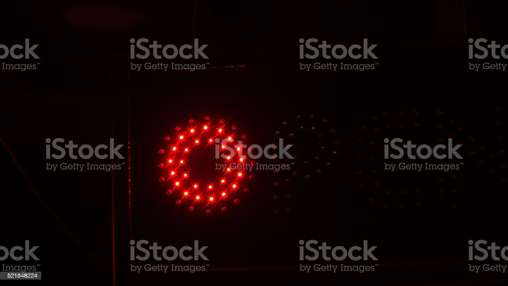 Red letter O stock photo