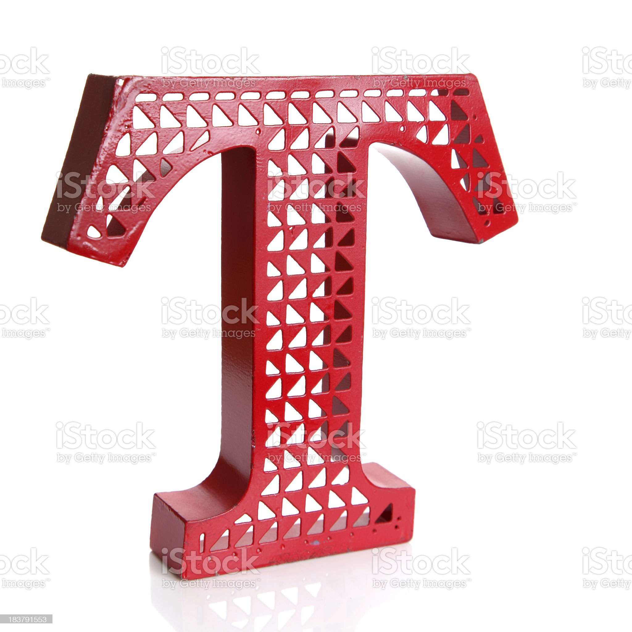 Red letter T royalty-free stock photo