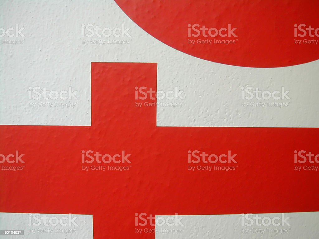 red letters royalty-free stock photo