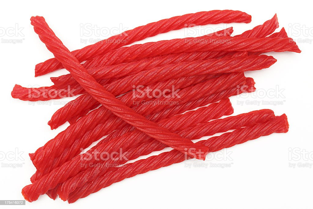 Red Licorice Candy stock photo