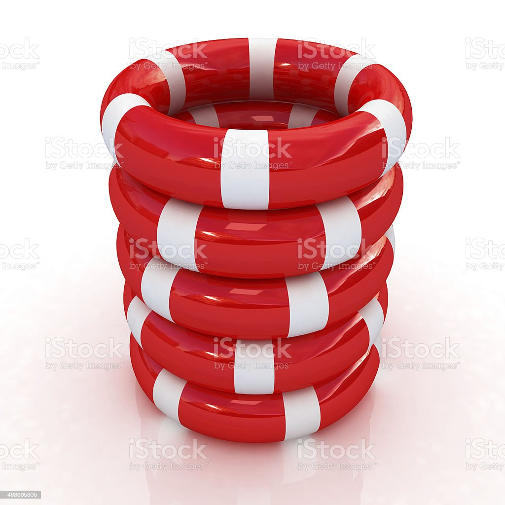Red lifebelts royalty-free stock photo