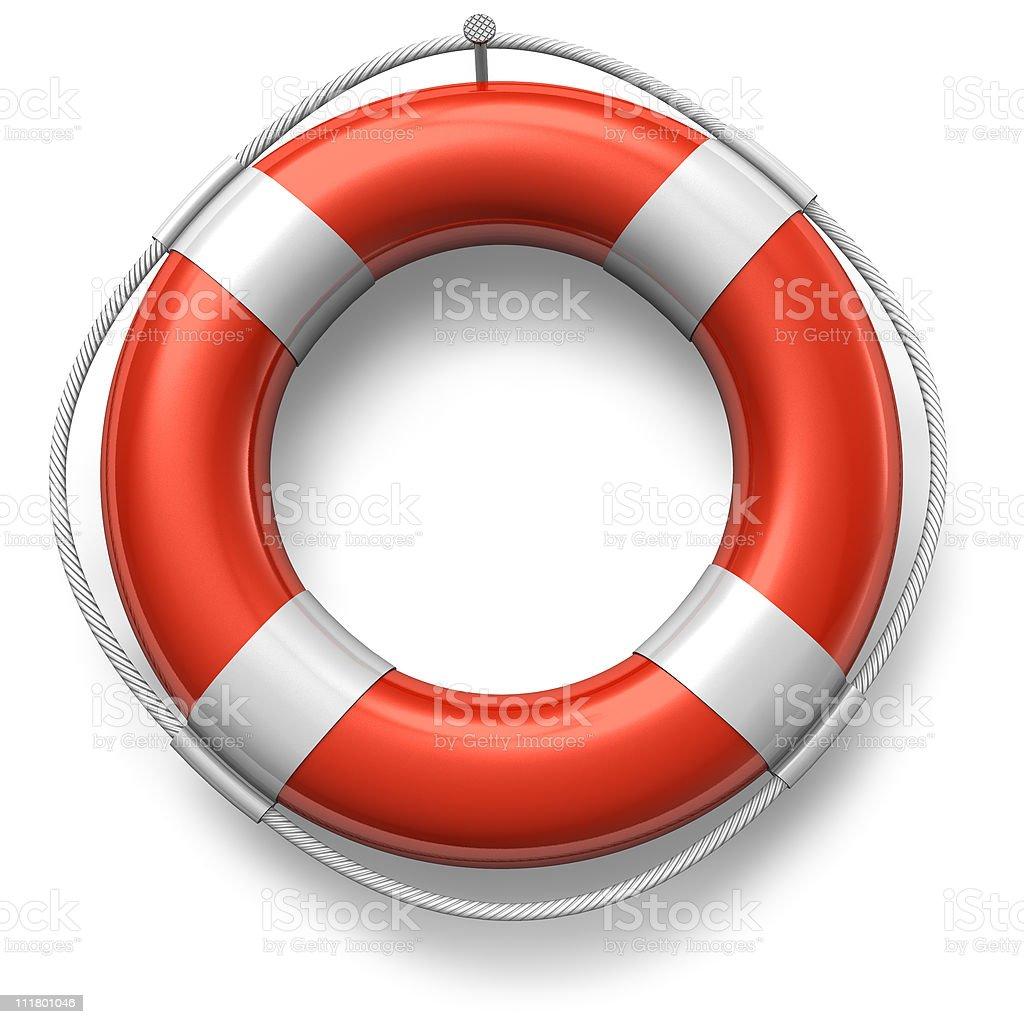Red lifesaver stock photo