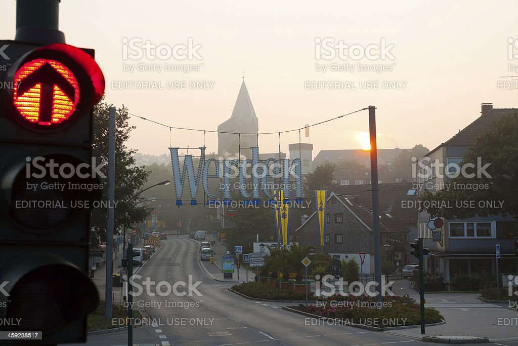 Red light and sunrise royalty-free stock photo