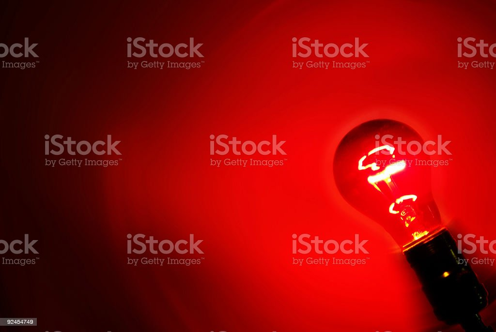 Red Light Angled stock photo