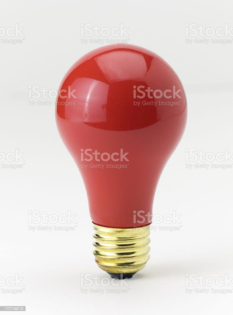Red Light bulb stock photo