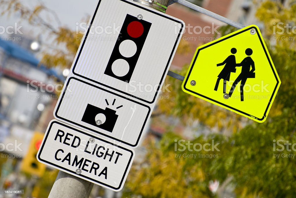 Red light camera... royalty-free stock photo