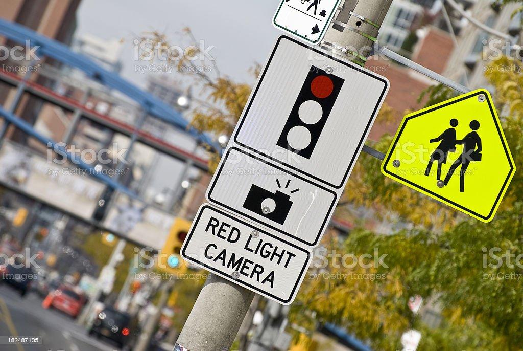 Red light camera... stock photo