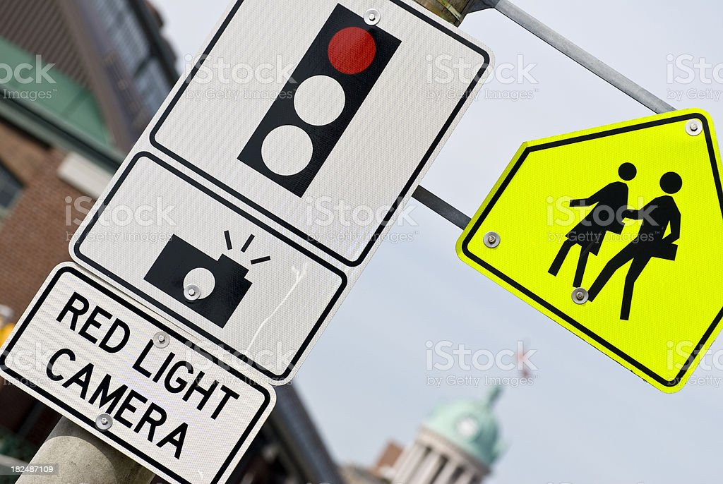 Red light camera... royalty-free stock photo