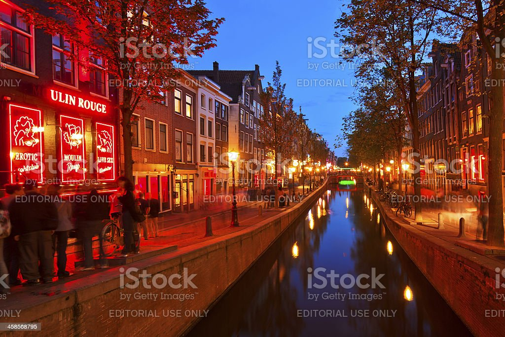 Red Light District, Amsterdam stock photo