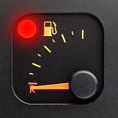 Red light - empty tank pointer