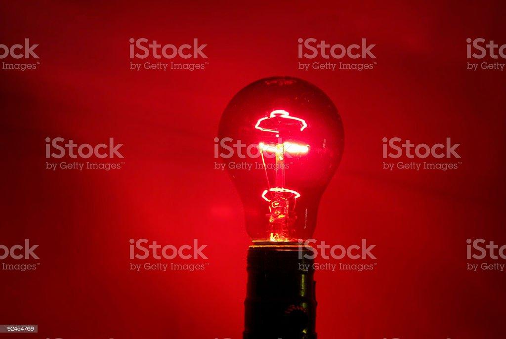 Red Light Glows stock photo