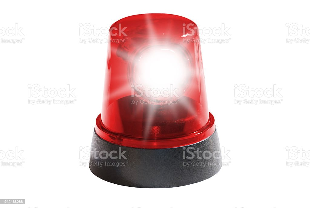Red light isolated stock photo
