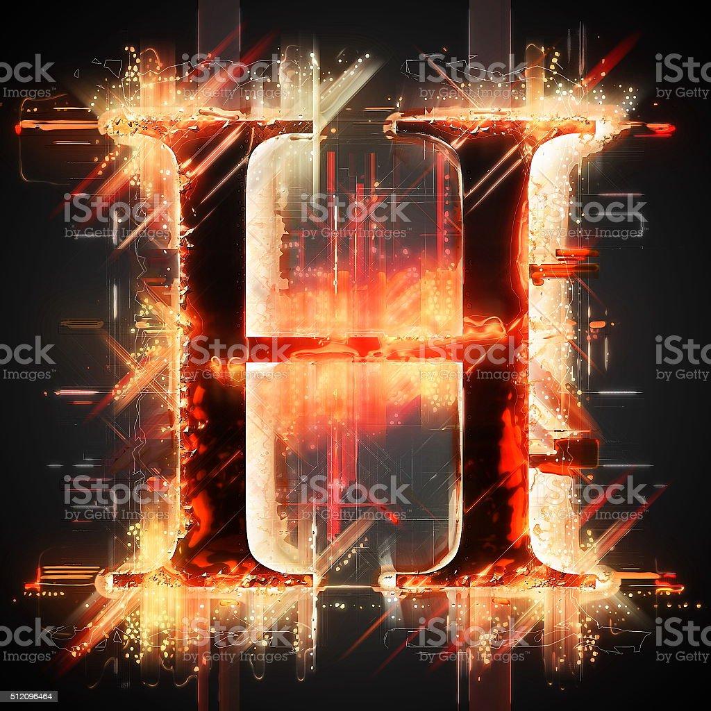 Red light letter H stock photo