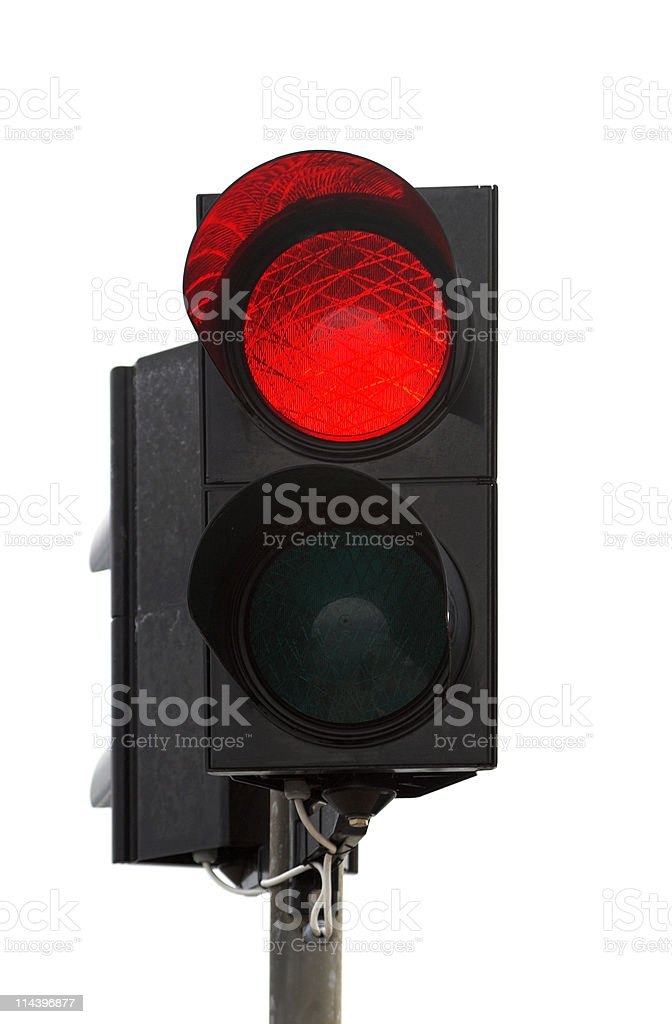 Red Light On Traffic Lights stock photo