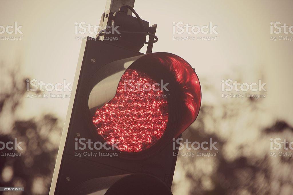 Red light stock photo