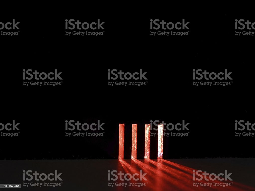 red light stripes stock photo