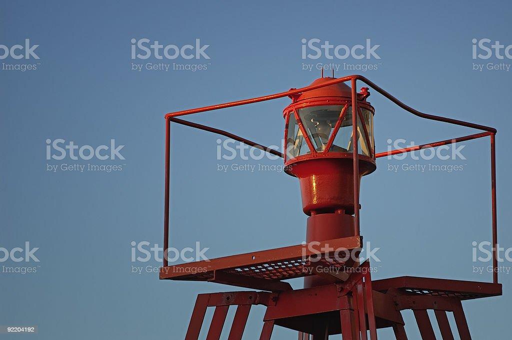 Rojo iluminado buoy foto de stock libre de derechos
