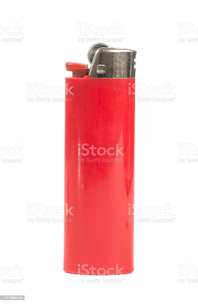 red lighter - rotes Feuerzeug stock photo