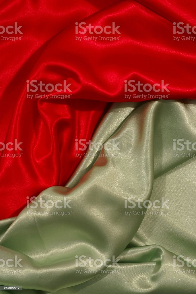Red Lime Green satin Background stock photo