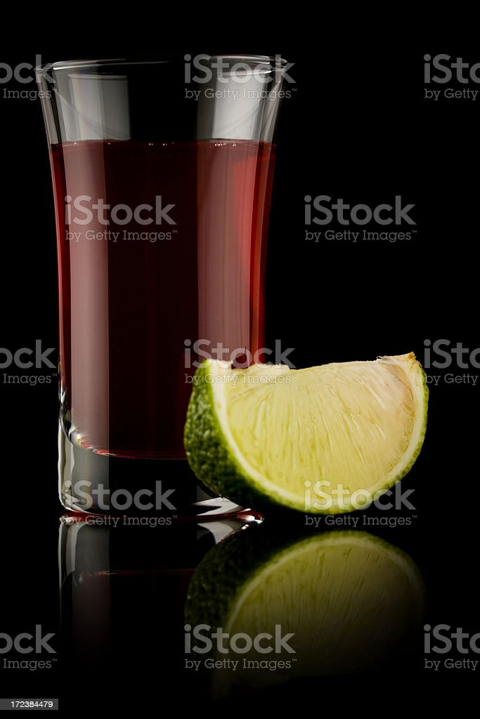 Red lime shot royalty-free stock photo
