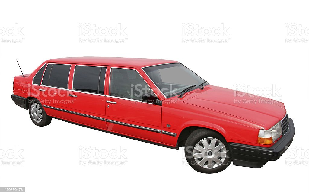 Red limousine royalty-free stock photo