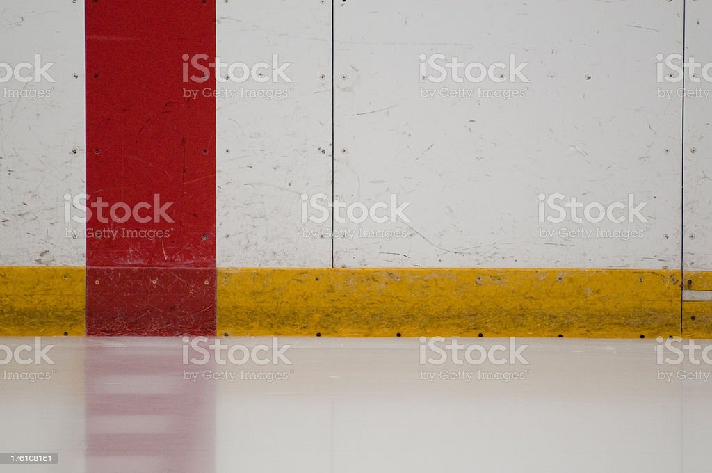 Red Line at Center Ice stock photo