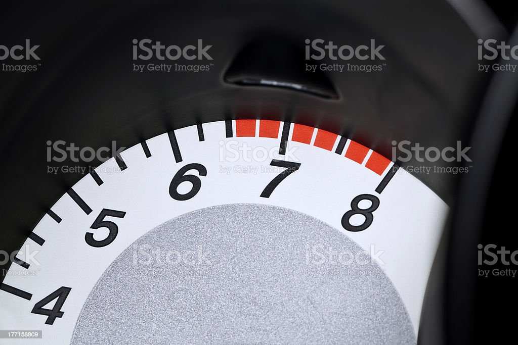 Red line tachometer royalty-free stock photo