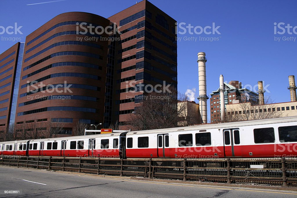 Red Line Train stock photo