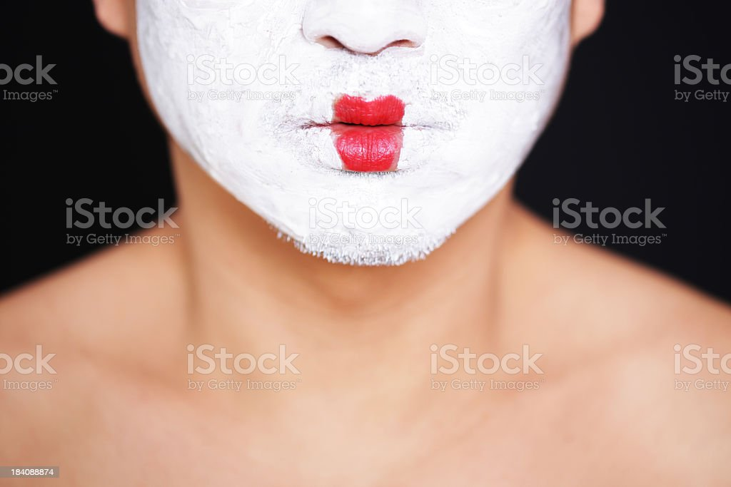 Red lips royalty-free stock photo