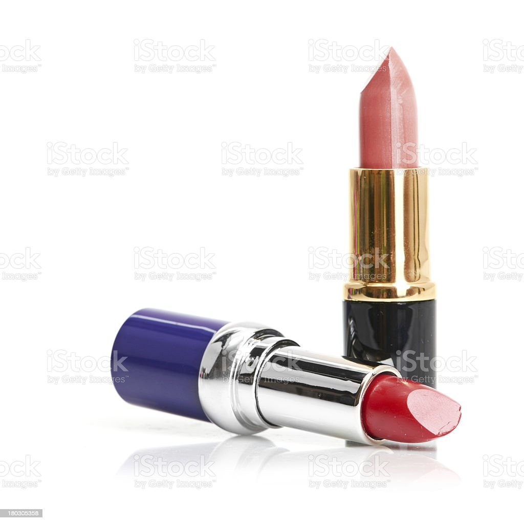 Red lipstick and nail polish royalty-free stock photo