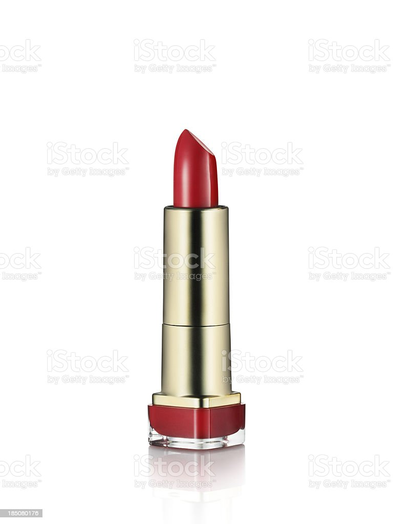 Red Lipstick isolated on white royalty-free stock photo