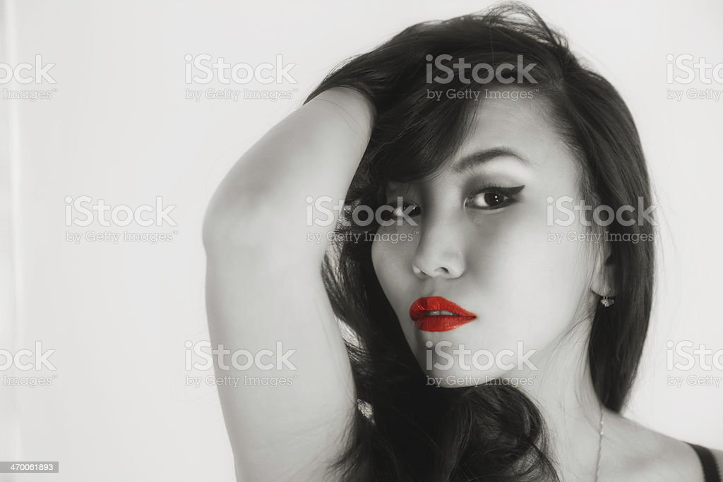 Red lipstick royalty-free stock photo