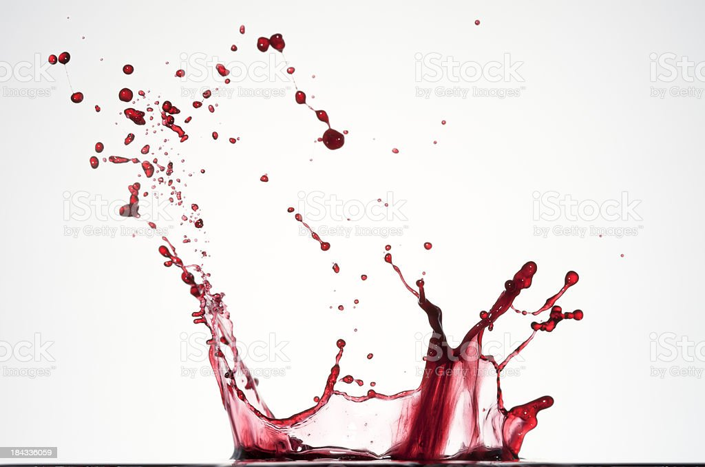 Red liquid splash I royalty-free stock photo