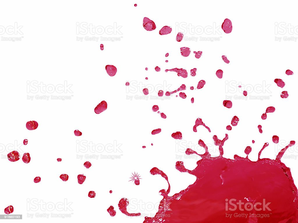 Red Liquid Splashing and Falling royalty-free stock photo