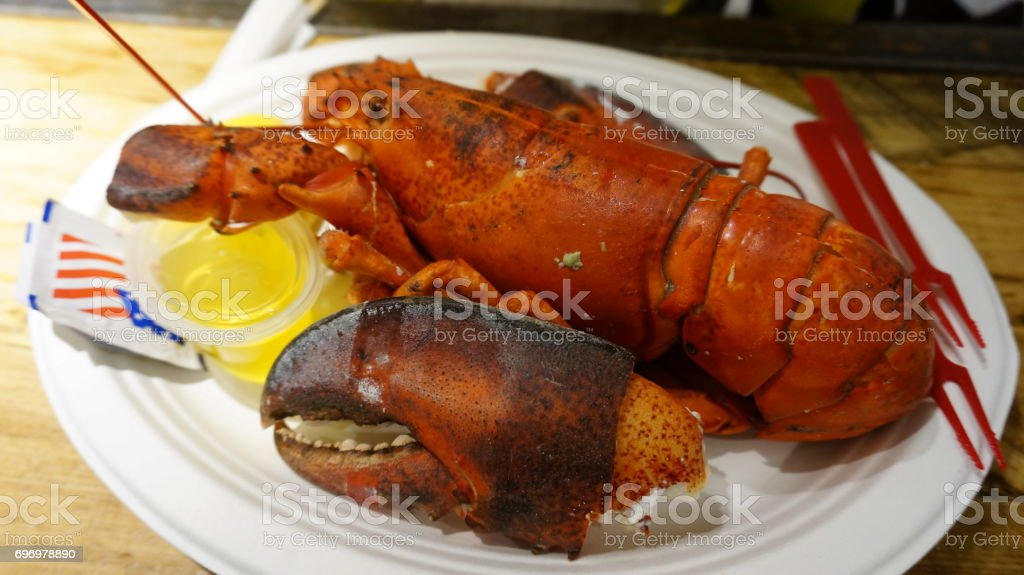 Red Lobster served stock photo