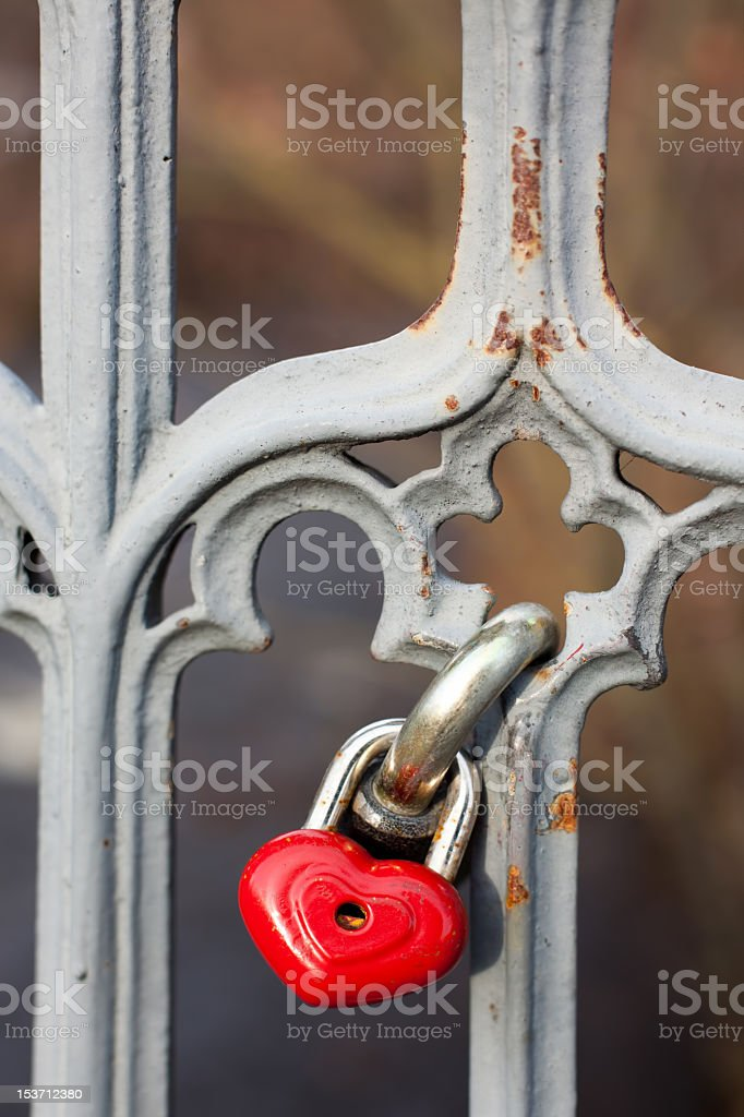 Red lock royalty-free stock photo