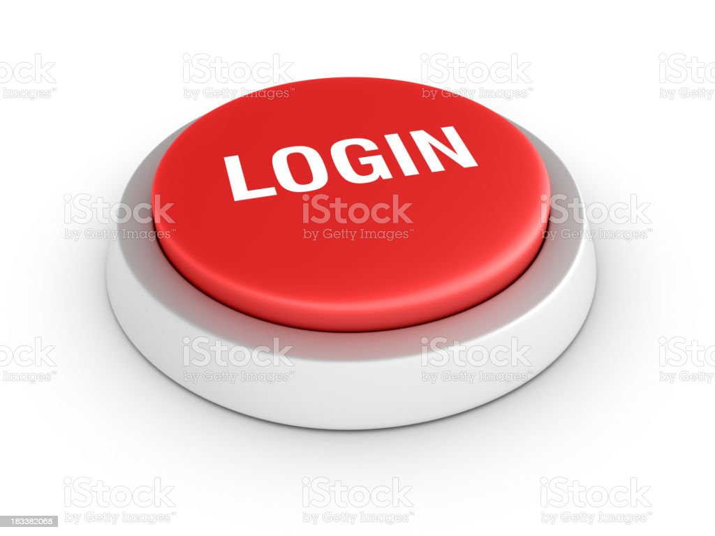 Red LOGIN Button royalty-free stock photo