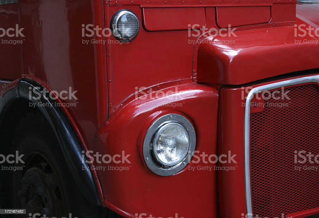Red London Bus - detail royalty-free stock photo