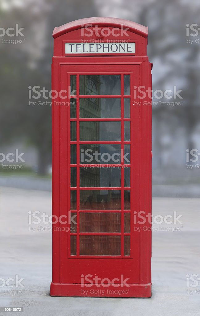 red London phone booth royalty-free stock photo