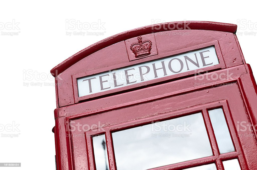 Red london telephone booth royalty-free stock photo