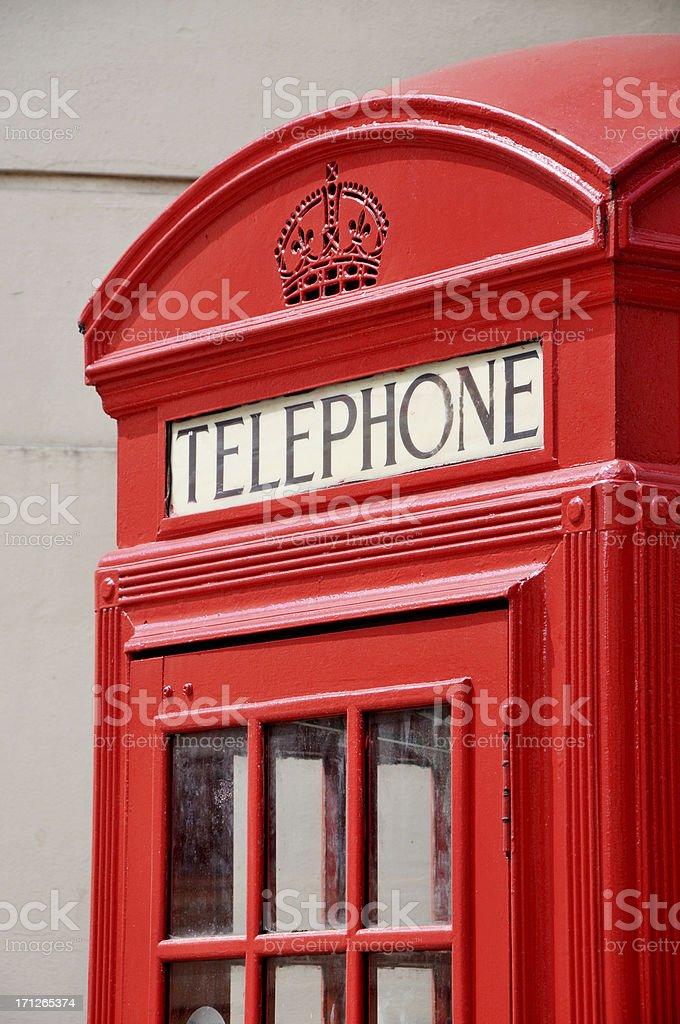 Red London Telephone Box royalty-free stock photo