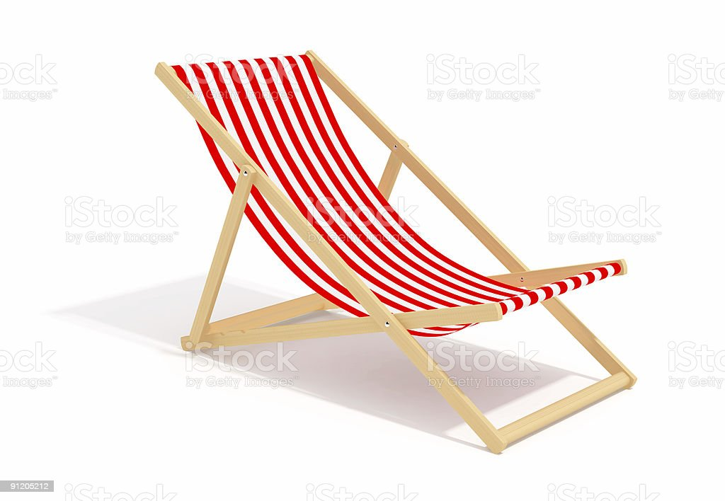 red chaise longue royalty-free stock photo