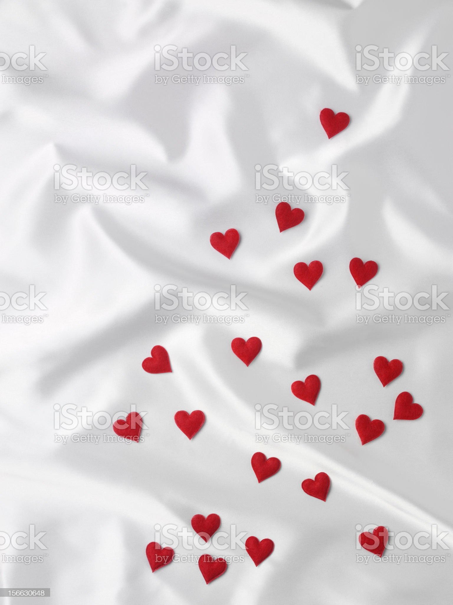 Red Love Hearts royalty-free stock photo