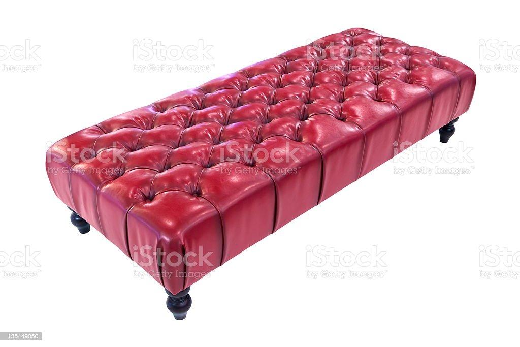 Rosso lussuoso divano isolato con clipping path foto stock royalty-free